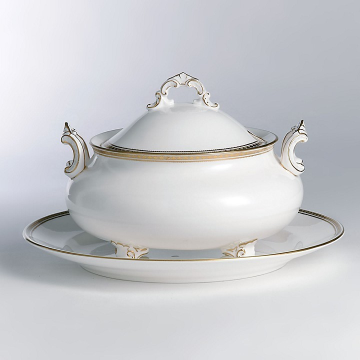 """Carlton Royal Crown Derby Gold"""" Covered Soup Tureen"""