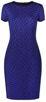 St. John Knitted Geometric Dress