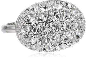 T Tahari Essentials -Tone Oval Crystal Pave Ring