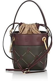 Chloé Women's Roy Small Leather Bucket Bag-Dk. Green