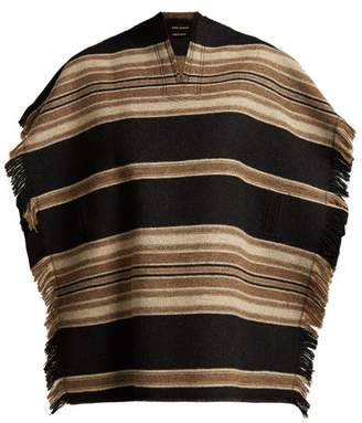 Isabel Marant Hollis Wool Blend Poncho - Womens - Black
