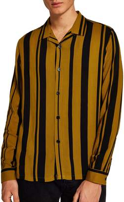 Topman Tapenade Stripe Shirt