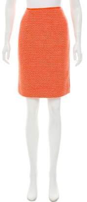 Tory Burch Textured Knee-Length Skirt