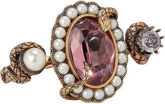 Alexander McQueen Snake Jewel Double Ring