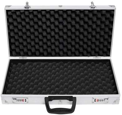 Article Durable Portable Aluminum Framed Locking Lock Box Hard Storage Carry Case