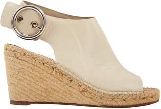 Celine Beige Leather Sandals