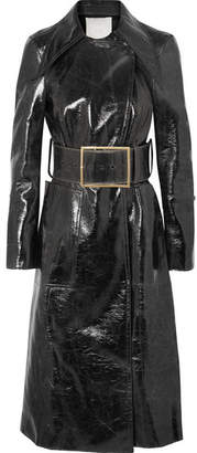 RŪH - Coated Wool-blend Trench Coat - Black