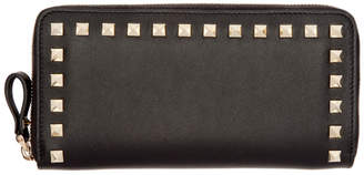Valentino Black Garavani Rockstud Zip Wallet