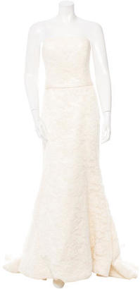 Vera Wang Strapless Lace Gown $625 thestylecure.com