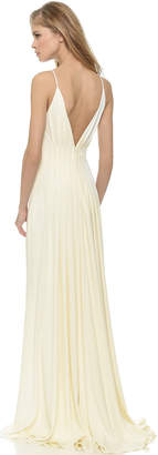 Badgley Mischka Collection Open Back Gown $695 thestylecure.com