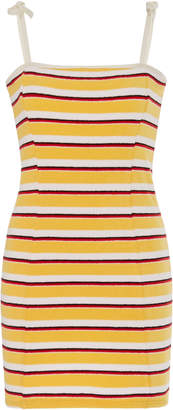 Solid & Striped Tweeny Striped Terry Cloth Mini Dress