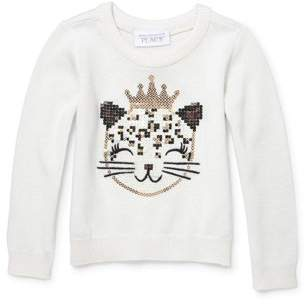 Children's Place The Long Sleeve Graphic Crew Neck Sweater (Toddler Girls)