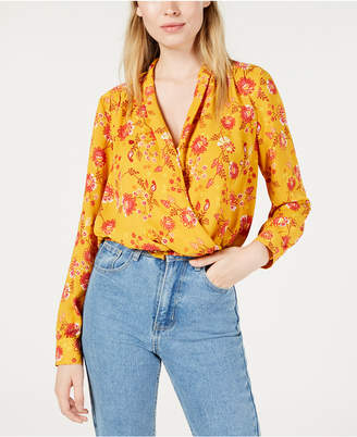 Project 28 Nyc Floral-Print Faux-Wrap Top