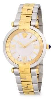 Versace Two-Tone Stainless Steel Medusa Bracelet Watch