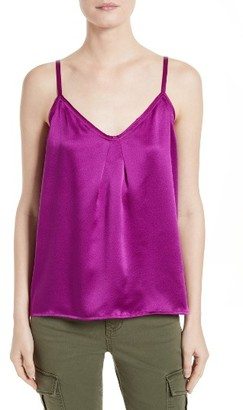 Women's Vince Pleated Silk Camisole $220 thestylecure.com