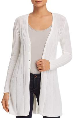 Foxcroft Ribbed Long Cardigan