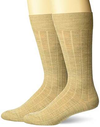 Buttoned Down Men's 2-Pack Merino Wool Dress Socks