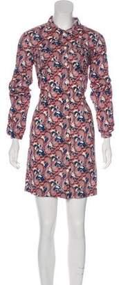 0039 Italy Long Sleeve Mini Dress