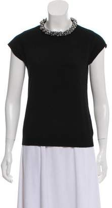 Magaschoni Cashmere Embellished Top