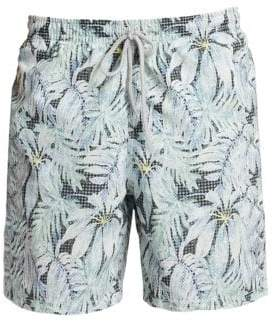 Saks Fifth Avenue COLLECTION Palm Tree Swim Shorts
