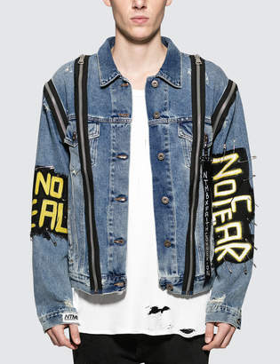 Faith Connexion NTMB Monster Zip Detail Denim Jacket