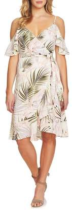 Cynthia Steffe CeCe by Cold Shoulder Soft Palm Dress