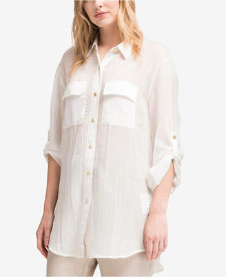 DKNY Sheer Utility Shirt, Created for Macy's