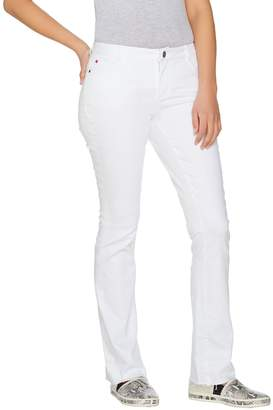 Peace Love World Regular White Denim Jeans with Released Hem