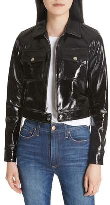 L'Agence Lex Patent Leather Crop Jacket