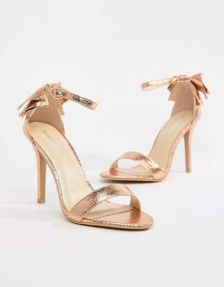 Glamorous Barely There Sandal With Bow Back