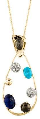 Alexis Bittar Multistone Modernist Pendant Necklace