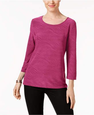 JM Collection Petite Jacquard Top, Created for Macy's
