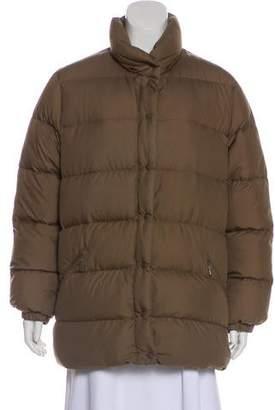Moncler Down Zip-Up Coat