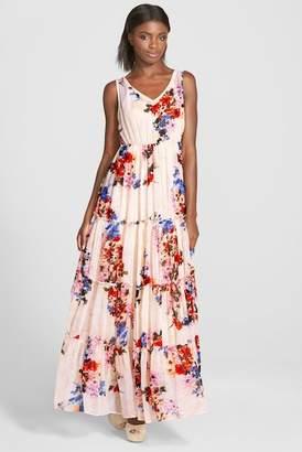 Raga Feeling Floral Tiered Maxi Dress