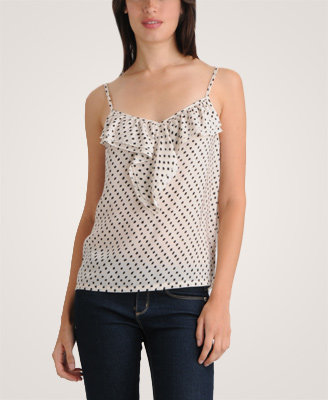 Sheer Dotted Top