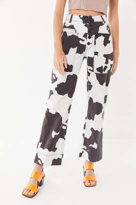BDG Jadon Cow Print Button-Fly Jean