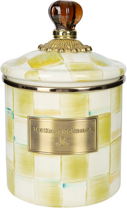 Mackenzie Childs MacKenzie-Childs - Parchment Check Enamel Canister - Small
