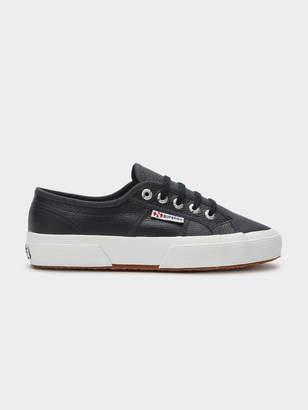 Superga Unisex 2750 Cotu Leather Sneakers in Dark Navy