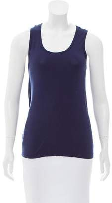 Tory Sport Sleeveless Scoop Neck Top
