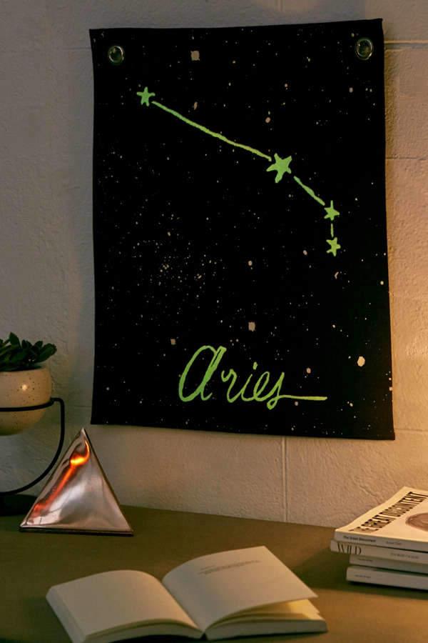 Glow-In-The-Dark Mini Zodiac Tapestry
