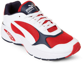 Puma White & Red CELL Viper Low-Top Sneakers