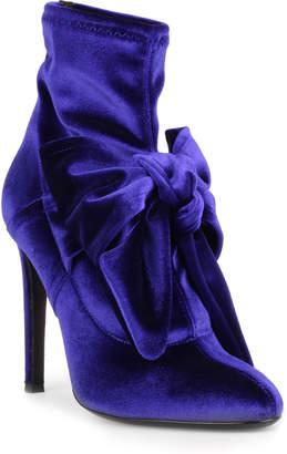 Giuseppe Zanotti Josephine blue velvet ankle boot