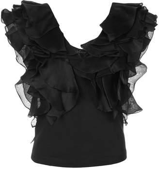 Petersyn ruffled shortsleeved blouse