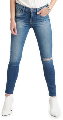 Hudson Nico Mid-Rise Raw-Hem Ankle Skinny Jeans