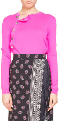 Altuzarra Minamoto Button-Side Crewneck Sweater