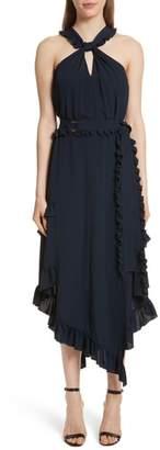 Derek Lam 10 Crosby Ruffled Asymmetrical Dress