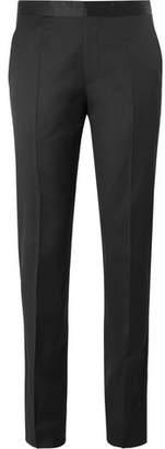 HUGO BOSS Black Ledan Silk Satin-Trimmed Virgin Wool Tuxedo Trousers