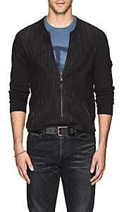 John Varvatos Men's Mélange Cotton Cardigan - Black