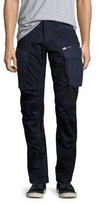 G-Star Rovic 3D Tapered Cargo Pants, Blue Camo $180 thestylecure.com
