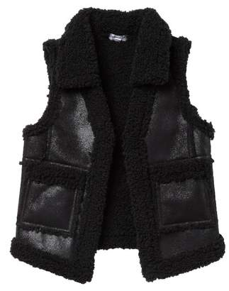 Splendid Faux Fur Lined Pleather Vest (Little Girls)